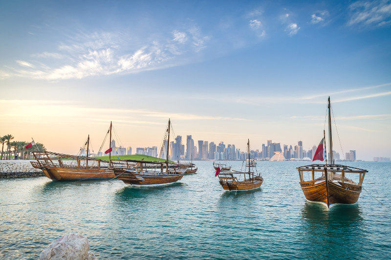 Doha látképe - Katar