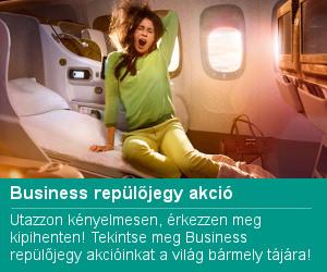 Business repülőjegy akció