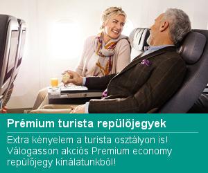 Prémium economy repülőjegy akció